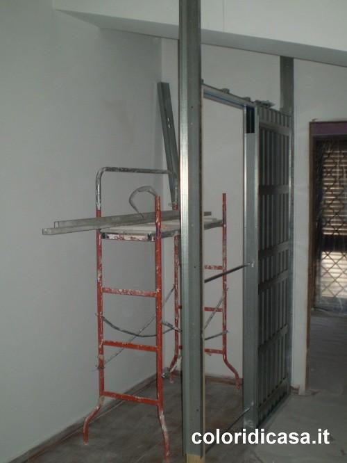 Cabina armadio cartongesso foto lavori in cartongesso for Cabina armadio cartongesso